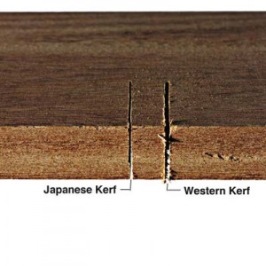 Kerf with japanese pull style saw
